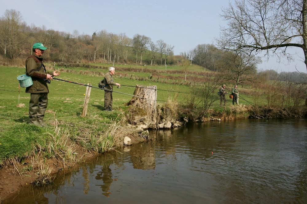 Pecheurs sur le Bassin de la Druance Natura 2000