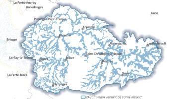 Carte Haute vallée de l'Orne et ses affluents