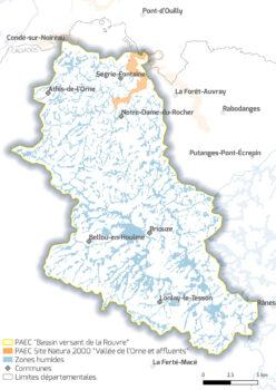 Carte Bassin de la Rouvre
