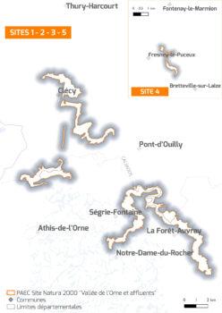 Carte Vallée de l'Orne